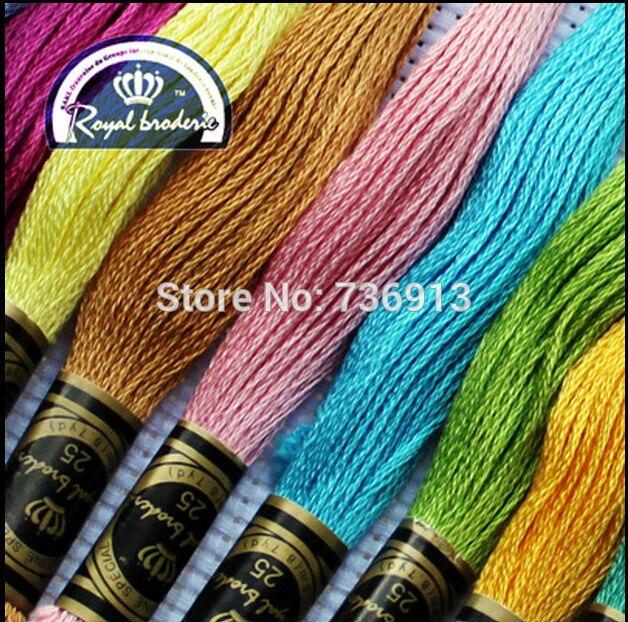 Wybierz dowolne kolory Royal nici w sumie 447 sztuk ściegiem krzyżykowym nici nici podobne DMC nici w Nici dentystyczne od Dom i ogród na  Grupa 1