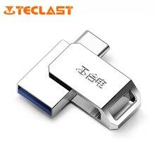 Teclast 16GB/32GB/64GB 2 in 1 USB 3.0 Type-C USB Flash Drive for Smartphones Disk Memory Storage Flash Disk Silver