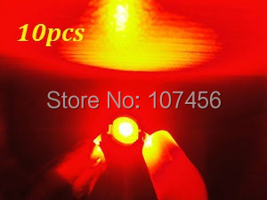 Free shipping 10pcs 3w 3watt Red High Power 3W red LED Lamp Light ultra Bright 3w red led beads