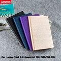 Pu para lenovo tab3 7.0 essencial tb3-710f tb3-710i pu protective leather case de proteção shell/pele 710 710f 710i case + presente