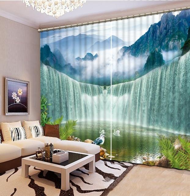 Paese tende camera da letto grande cascata tenda personalizzata 3d ...