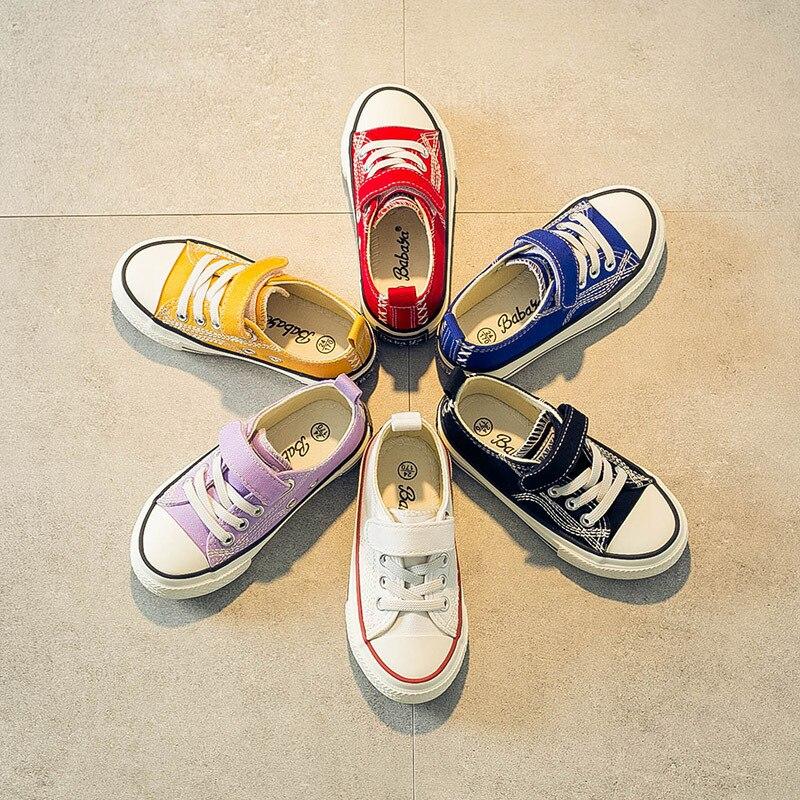 6 Farbe Kinder Leinwand Schuhe Jungen Turnschuhe Breathble 2019 Herbst Neue Mode Kinder Sport Schuhe Student Einzigen Mädchen Schuhe GüNstigster Preis Von Unserer Website