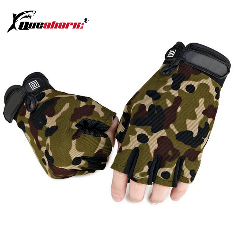 New Upgrade Tactical Half Finger Fishing Gloves Anti-Slip Men Outdoor Sports Mittens Camouflage Airsoft Shooting Hunting Gloves