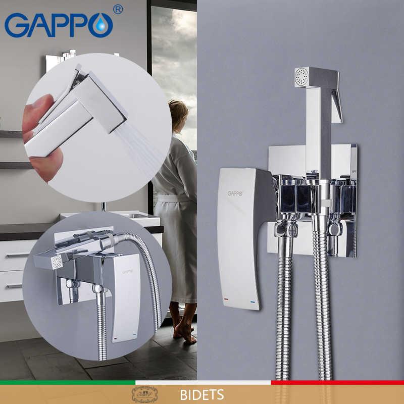 GAPPO Смесители для биде латунь туалет спрей хромированный полированный Смеситель кран биде для ванной комнаты Биде Душ Туалет вода спрей для ванной душ