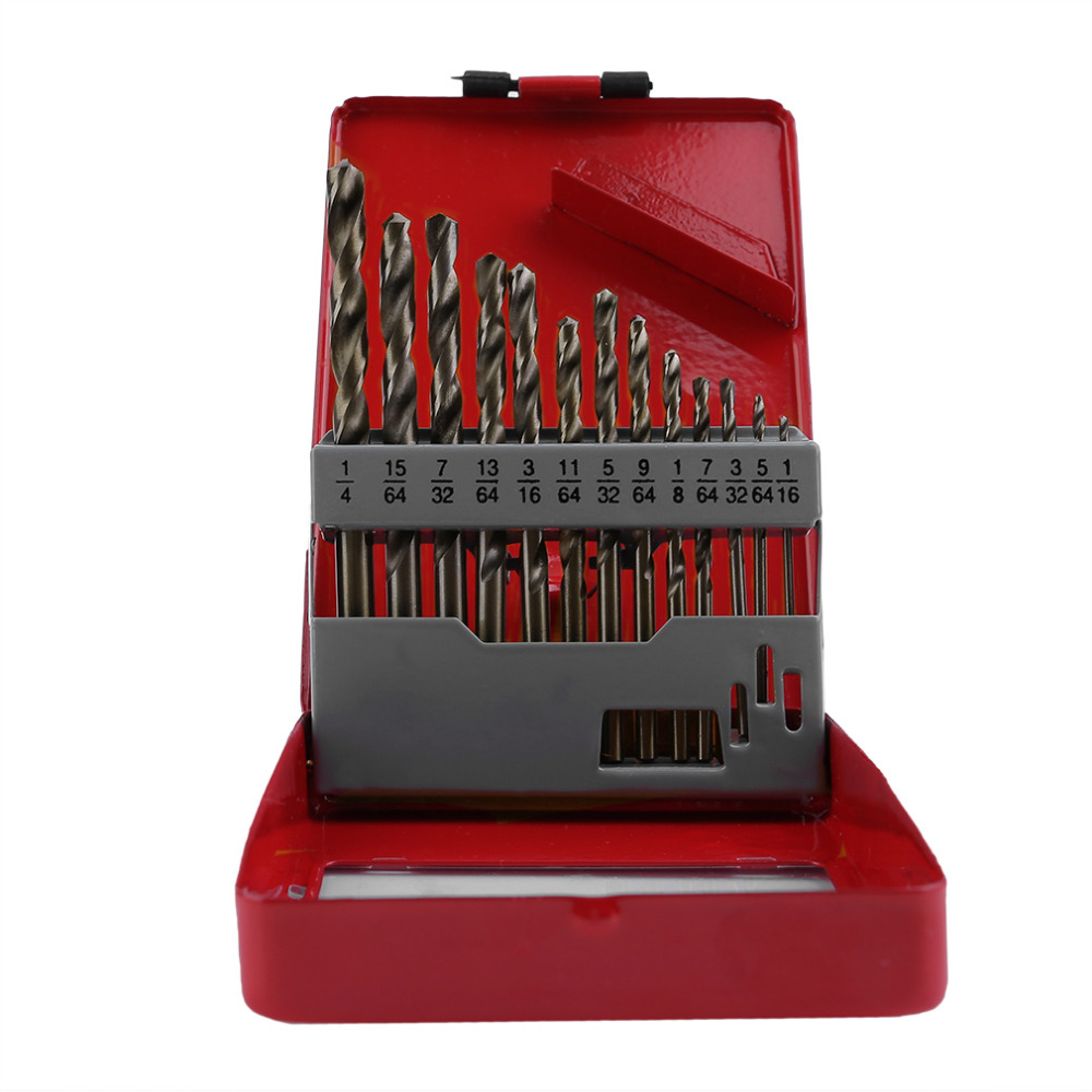 13Pcs/set Practical Cobalt Drill Bit Set Multifunction Bits with 135c Split Points Cobalt Drill Bit Set Self Starting