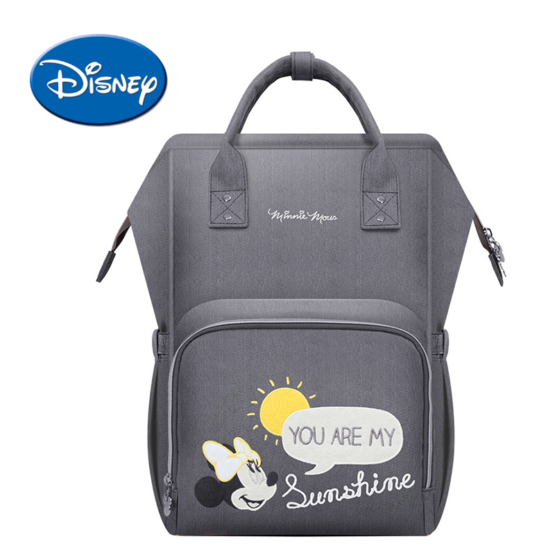 Disney USB Heating Diaper Bag Cartoon Mummy Maternity Nappy Bag Brand Water-proof Travel Backpack Designer Nursing Care Bag ...