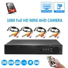 1080N HDMI DVR 2400TVL мини-экран Full HD домашней безопасности камера системы 4CH CCTV товары теле и видеонаблюдения комплект AHD комплект