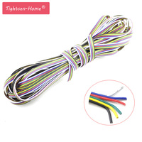 6 pin Draad Kabel Uitbreiding connector 5 M/10 M/15 M/20 M/25 M /100 M Voor 5050 RGB CCT RGBW + CW RGBW + WW LED Strip 22AWG lijn Verlichting 1 pcs