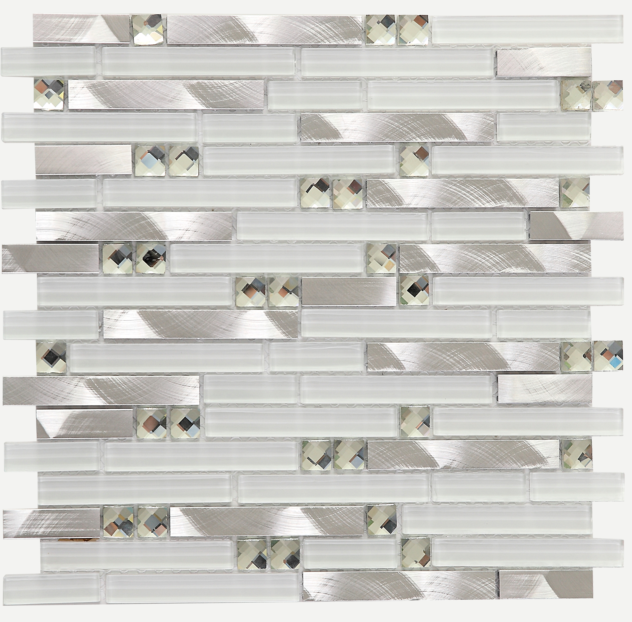 Best Price 2df22 Strip White Glass Diamond Kitchen Backsplash Tiles Lsgm02 Cicig Co