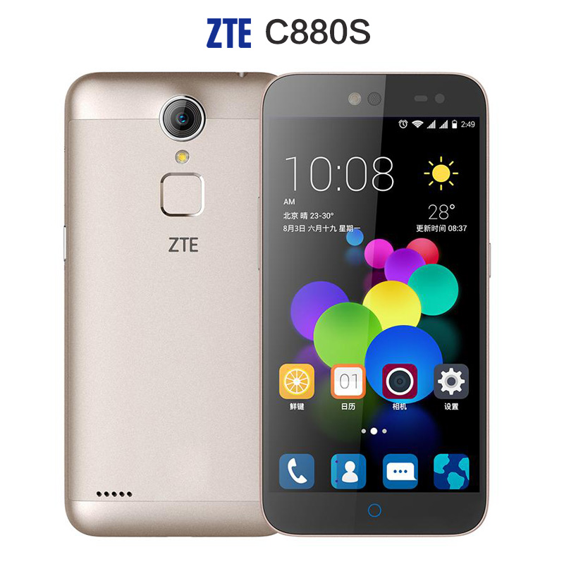 Original ZTE C880S A1 Metal Body Android5 1 Mobile Phone MTK6735 Quad Core Dual SIM FDD