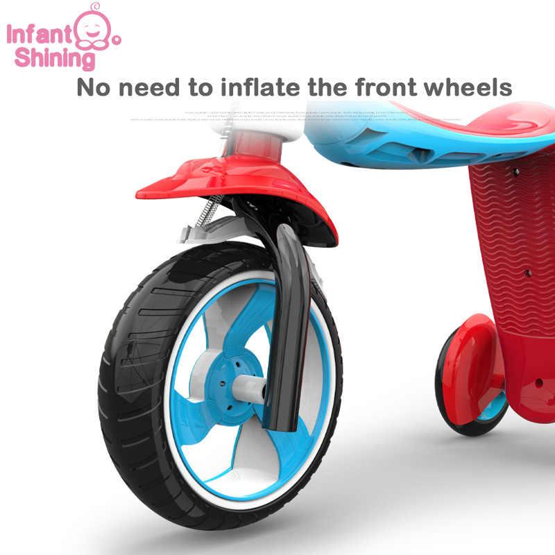 Bayi Bersinar Anak Naik Sepeda Di Mainan 1-6 Tahun 2 In 1 Scooter Sepeda Baby Walker Hadiah Ulang Tahun untuk Anak Laki-laki dan Perempuan