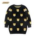 Симпатичный Медведь Мальчики И Девочки Пуловеры Свитера Осень И Зима Новая Мода Дети Длинные Вязаные Свитера Случайные Дети Одежда