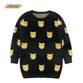 Cute Bear Boys And Girls Pullover Sweaters Autumn And Winter New Fashion Children Long Knitted Sweaters Casual Kids Clothing