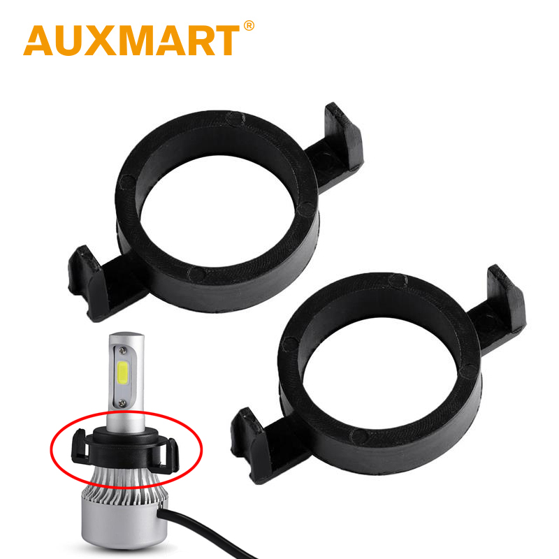 Auxmart Headlight LED H7 Bulb Adapter for Ford Mondeo, Peugeot 508/2008, Citron C5 Elysee, DS DS6 Car Auto H7 Light Socket Base