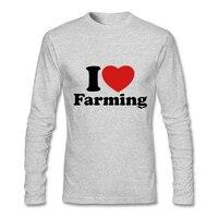Erkek t gömlek Lüks Marka I Love Tarım Yeni T-shirt Ucuz Fiyat Uzun Kollu Erkek t gömlek XS, S, M, L, XL, 2XL