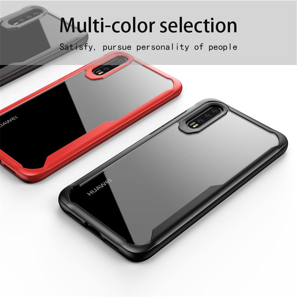 KDTONG para Huawei P20 Lite Mate 20 Lite caso de lujo de silicona suave funda transparente para PC para Huawei P20 pro cubierta del caso