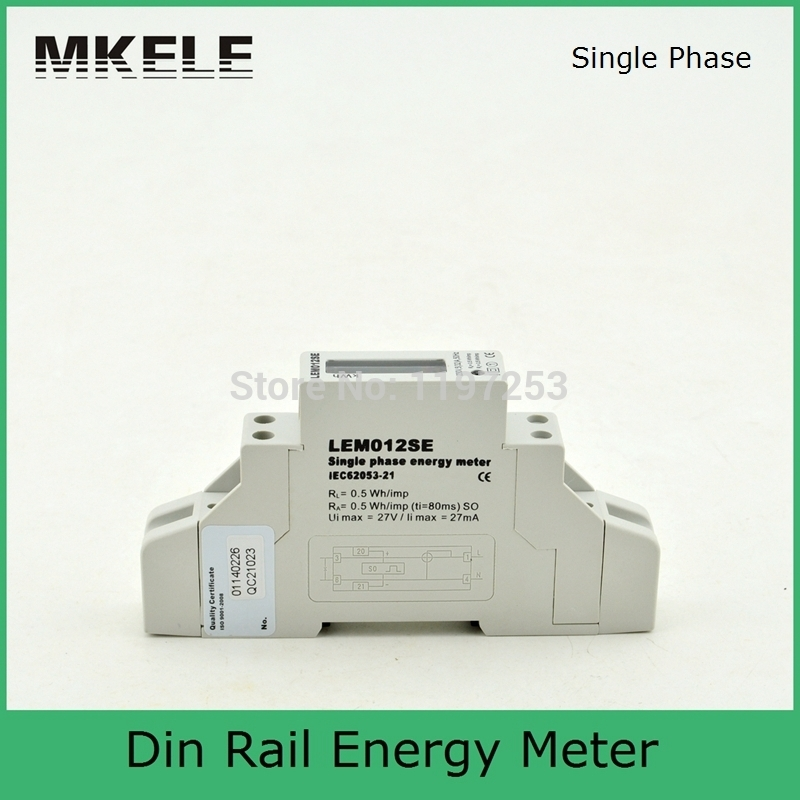 High Quality Din Rail MK-LEM012SE Single Phase Energy Meter Price Smart Digital Display China ...