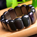 Morning Agent Natural Rainbow eye Obsidian Bracelet Certificate 100% natural Rainbow eye Bracelet for Men Women OB04