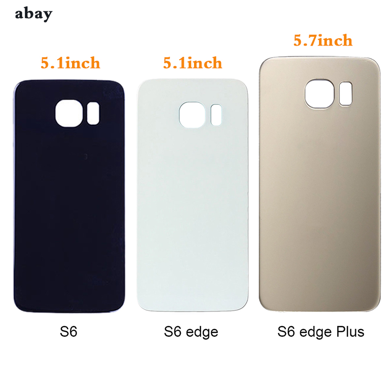 Back Cover For Samsung Galaxy S6 Back G920 Battery Cover Housing S6 Edge G925  S6Edge Plus G928 Back Case S6 Edge Plus + Sticker