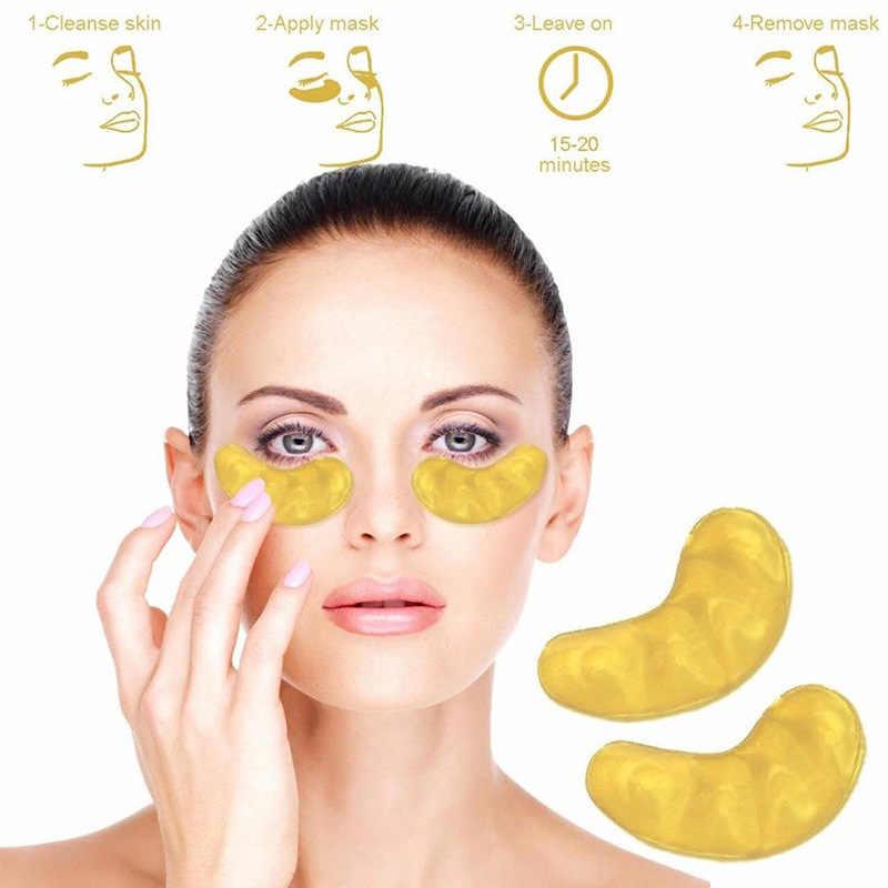 1 çift Altın Kristal Kollajen Göz Maskesi Göz Yamalar Göz yüz için maske Bakımı Koyu Halkalar Kaldırmak jel maske Gözler Yaşlanmayan
