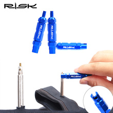 Risk Bicycle Tube Tire Valve Disassemble Remove Tools Road Bike MTB Tire Tools For Schrader Presta Extender Tubulars Valve Tool