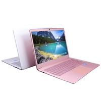 14 Inch FHD IPS Ultrabook Intel Celeron J3455 CPU 6G EMMC 512G SSD Laptop with HDMI Backlit keyboard Ultra Slim Metal Case pink