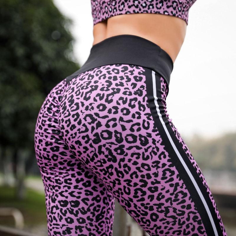 Women's High Waist Push Up Jeggings Knitted Sexy Leopard Printing Leggings Fitness Push Up Pants Female High Quality Leggings