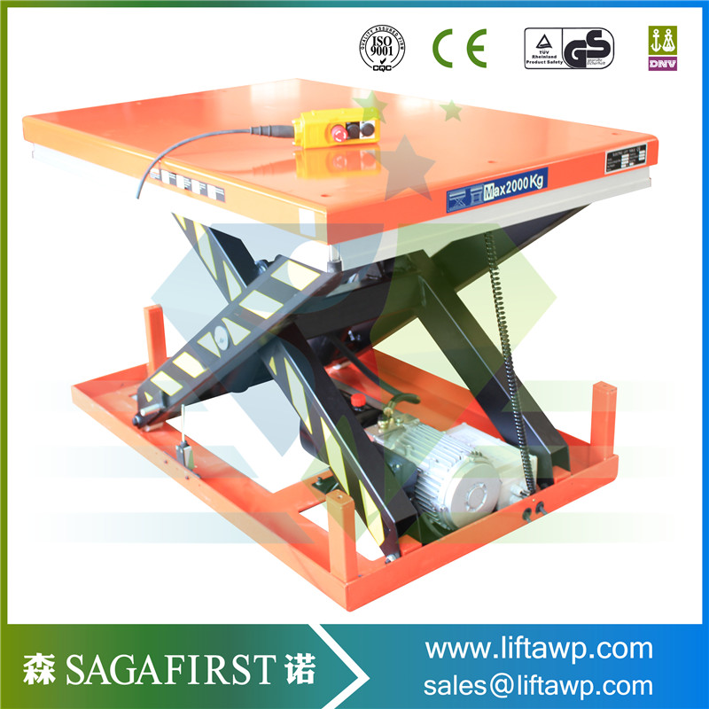 Low Height Stationary Scissor Lift Platform