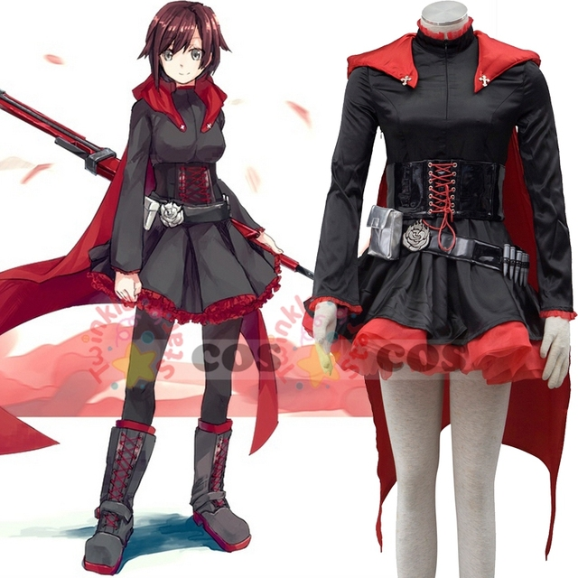 RWBY Ruby cosplay costume Halloween costumes for adult women RWBY Ruby Rose  cosplay costume dress cloak