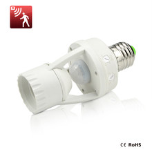 High Sensitivity PIR Motion Sensor E27 LED lamp Base Holder 110V - 220V With light Control Switch Infrared Induction Bulb Socket(China)
