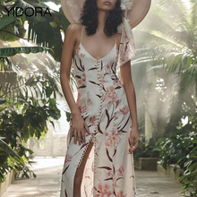 Linen Corsage Slip - Peach Orchid Print Button Front Midi Slip Dress With  Shoestring Shoulder Straps e82258330