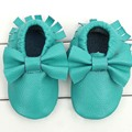 BBK Full leather tassels bow baby moccasins shoes baby girls shoes First layer of leather soft infant shoes Toddler shoes kids