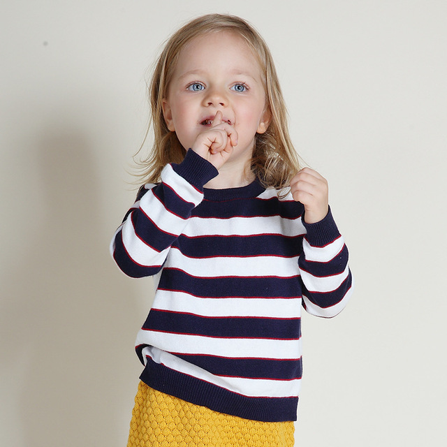 New 2016 Spring Bobo Choses Girls Boys Sweaters Baby Girls & Boys sweaters Cute Kids Boutique Knitted Wool Striped sweaters