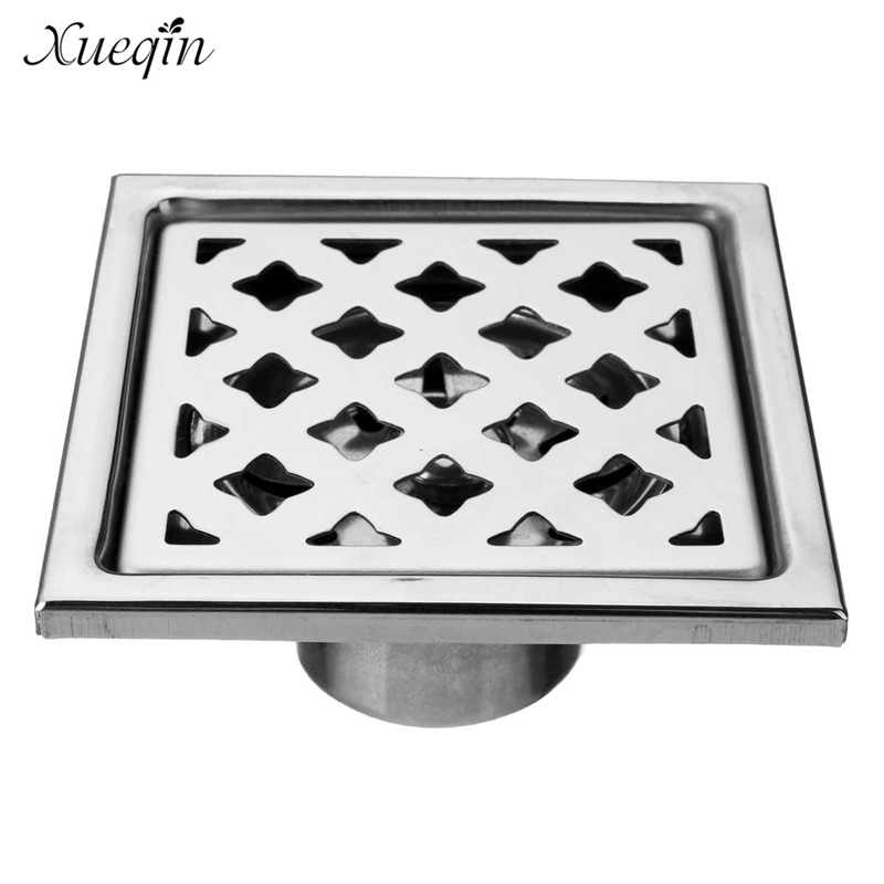Xueqin Stainless Steel Bathroom Shower Floor Drains Deodorization Insect Home Kitchen Sink Drain Water Outlet hideep stainless steel anti odor floor drain deodorization type rollover kitchen sink strainer drains shower for family bathroom