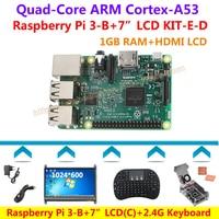 Raspberry Pi 3 Model B 7 LCD 2 4G Keyboard Claer Case Fan Power Heatsink Raspberry