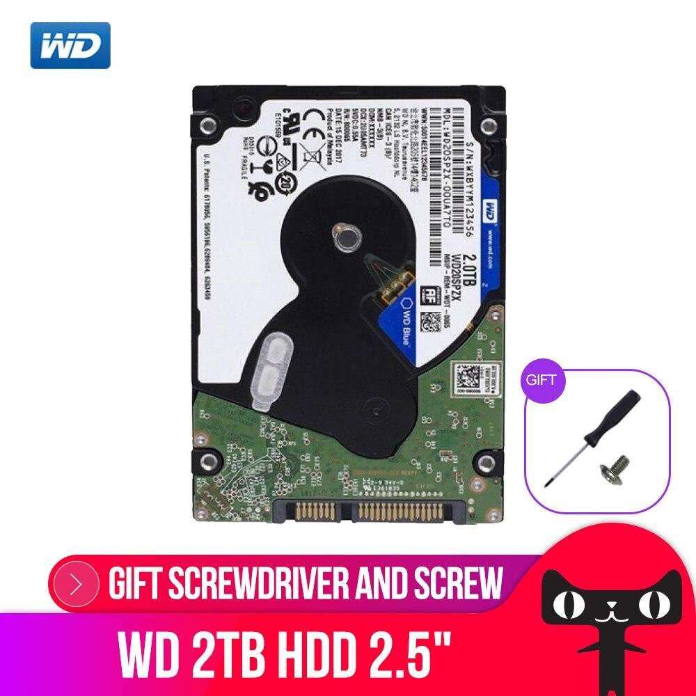WD Bleu 2 tb 2.5 disque dur Mobile Disque Dur-5400 rpm SATA 6 gb/s 128 mb Cache 2.5 pouce pour ordinateur portable portable WD20SPZX