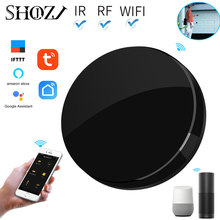 tuya alexa echo smart home WIFI IR RF remote control for Infrared Air-condition Fan TV switch 433mhz  Universal Remote Control