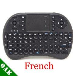 [Darmowa wysyłka] iPazzPort KP-810-21 Mini 2.4G bezprzewodowy francuski klawiatura + mysz powietrzna + TouchPad dla Android TV pudełko/IPTV wysokiej jakości