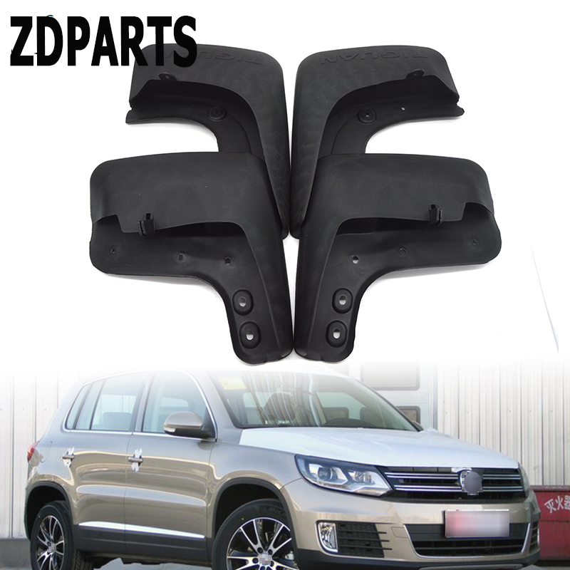 ZDPARTS Car Front Rear Mudguards For 2008 2009 2010 2011 2012 2013 2014 2015 <font><b>VW</b></font> Tiguan <font><b>Mudflaps</b></font> Accessories 1Set Fenders image