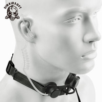 Z tactical Z Tactical Headphones Throat Microphone Headset PTT Portable Radio Mic Neckband Hunting Airsofte Throat Mic Earphone