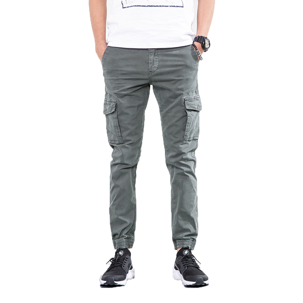 2018 Men Loose Cargo pants Male army green Cotton Trousers Pencil Harem Pants Mens Hip Hop Outwear Casual PantsMen Joggers 28-38