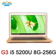 Причастником 13.3 дюймов Intel Dual Core 5th Gen Тетрадь компьютер I5 5200U с 8 г Оперативная память 256 г SSD бесплатная Доставка