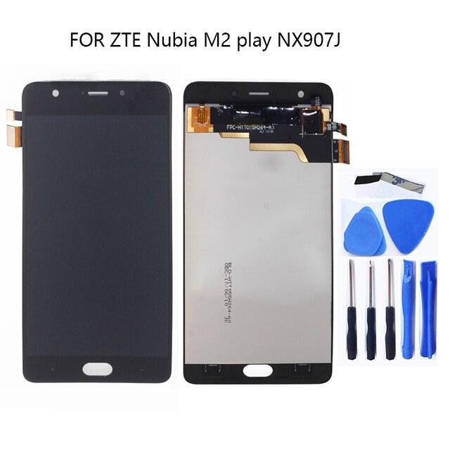 מקורי לzte nubia M2 לשחק NX907J LCD תצוגת מסך מגע digitizer החלפת nubia M2 לשחק מגע לוח תיקון ערכת