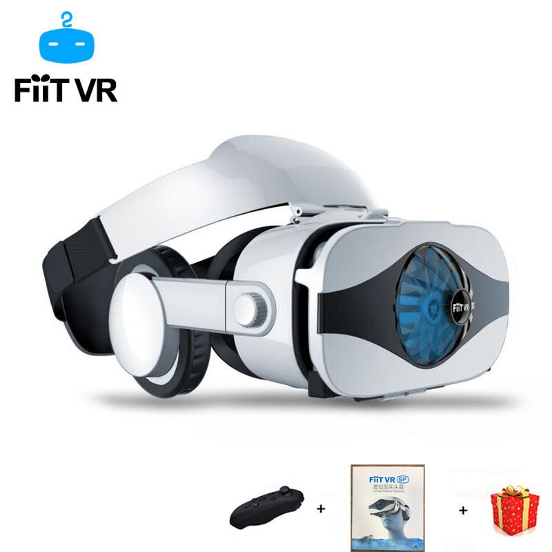 Fiit 5F Helmet 3D VR Glasses Virtual Reality Headset For iPhone Android Smartphone Goggles Casque Smart Phone Android 3 D Lens in 3D Glasses Virtual Reality Glasses from Consumer Electronics