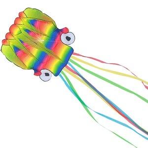 5 м Осьминог портативный кайт игрушка для детей и детей на открытом воздухе игры деятельности с 100 м доски (Радужный цвет)