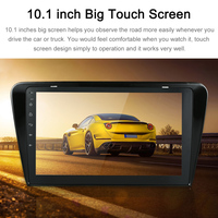 Android 7.1 System GPS Navigation 10.1 Inch Full HD 1080P For Skoda Octavia Stereo BT In dash Navigation Car Multimedia Player
