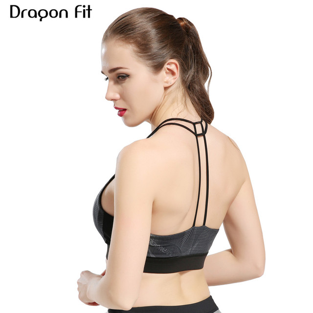 d788338506c1f Dragon Fit Women Running Bras Fitness Plus Size Vest Gym Top Seamless Sport  Bra Soft Breathable Comfortable Sportswear Yoga Bra