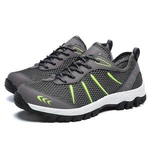 Image 3 - ZIMNIE erkekler yaz nefes rahat hava örgü ayakkabı erkekler rahat eğitmenler ayakkabı erkek Out yürüyüş ayakkabısı büyük büyük boy 39 ~ 48