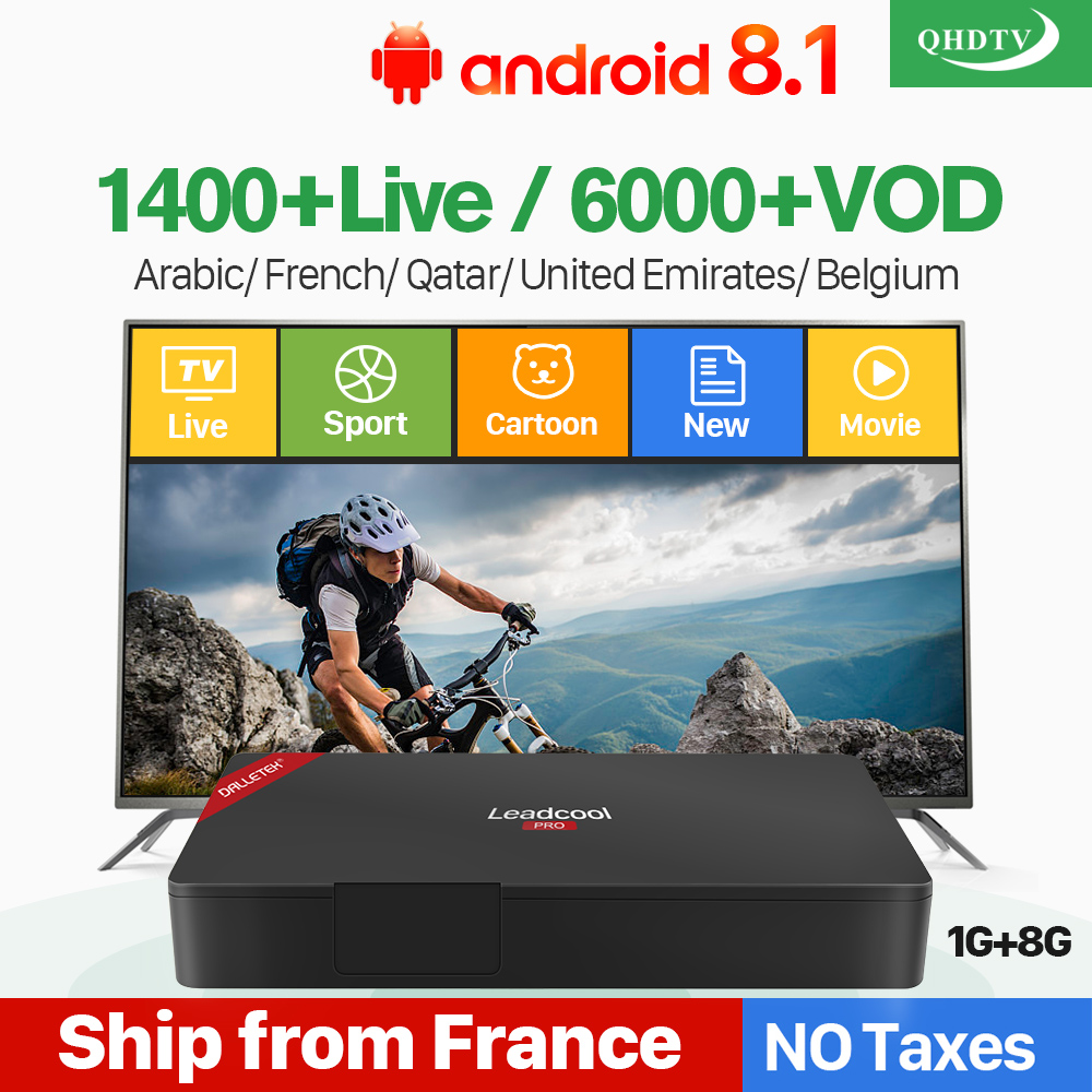 Arabic IPTV Years France Dutch Belgium Leadcool Pro Android 8 1 RK3229 4K H 265 QHDTV