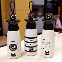 Cartoon Cute Cat Thermo Mug Vacuum Flask Cup Stainless Steel Thermos Water Bottle Thermal Tumbler Travel